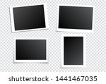 photo frames set on transparent ... | Shutterstock .eps vector #1441467035