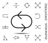 arrow circle icon. simple thin...