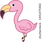 flamingos are a type of wading... | Shutterstock .eps vector #1441475402