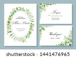vector set of cards for wedding ... | Shutterstock .eps vector #1441476965