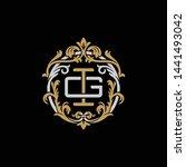 initial letter g and i  gi  ig  ... | Shutterstock .eps vector #1441493042