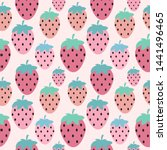 simple strawberry seamless... | Shutterstock . vector #1441496465