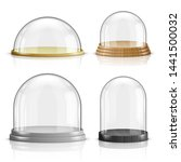 glass dome and wooden and... | Shutterstock .eps vector #1441500032