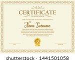 certificate. template diploma... | Shutterstock .eps vector #1441501058