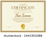 certificate. template diploma... | Shutterstock .eps vector #1441501088