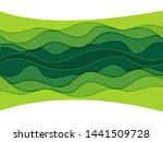 modern 3d paper cut art... | Shutterstock .eps vector #1441509728