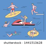 people who enjoy various...   Shutterstock .eps vector #1441513628