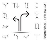 arrow separate icon. simple...