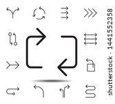 arrow  repeat icon. simple thin ...