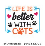 less people more cats inspiring ... | Shutterstock .eps vector #1441552778