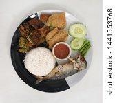 Stock photo fried mackerel with shrimp paste sauce nam prik kapi pla too 1441553768