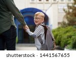 back to school. happy father...   Shutterstock . vector #1441567655