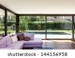 modern villa  interior  wide... | Shutterstock . vector #144156958