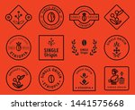 single origin badge design set... | Shutterstock .eps vector #1441575668