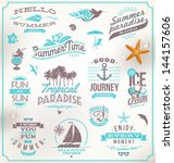 vector set of travel and... | Shutterstock .eps vector #144157606