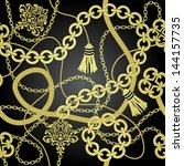 gold chain seamless vector... | Shutterstock .eps vector #144157735