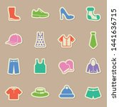 clothes color sticker vector...