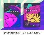 summer tropical poster design.... | Shutterstock .eps vector #1441645298