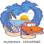 time to travel summer holidays... | Shutterstock .eps vector #1441645682