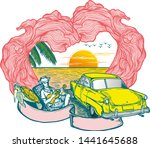 time to travel summer holidays... | Shutterstock .eps vector #1441645688