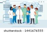 hospital healthcare staff ... | Shutterstock .eps vector #1441676555