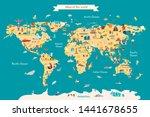 world map vector illustration... | Shutterstock .eps vector #1441678655