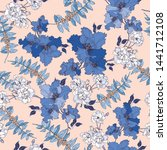 floral seamless pattern with... | Shutterstock .eps vector #1441712108