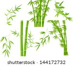 illustration with bamboo... | Shutterstock .eps vector #144172732