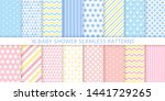 baby shower pattern. baby boy... | Shutterstock .eps vector #1441729265