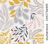 seamless vector floral pattern. ...   Shutterstock .eps vector #1441736405