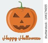 vector 'happy halloween' poster ... | Shutterstock .eps vector #144174055