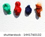 colorful oil paint on white | Shutterstock . vector #1441760132