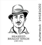 indian freedom fighter shaheed... | Shutterstock .eps vector #1441816202