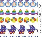 baby boy cute seamless pattern | Shutterstock .eps vector #144181666