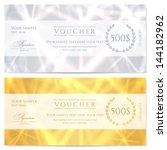 voucher  gift certificate ... | Shutterstock .eps vector #144182962