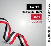 happy egypt revolution day... | Shutterstock .eps vector #1441854392