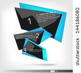 abstract polygonal speech... | Shutterstock .eps vector #144186082