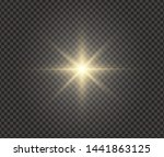 white glowing light explodes on ... | Shutterstock .eps vector #1441863125