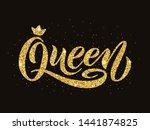 queen word with crown. golden...   Shutterstock .eps vector #1441874825