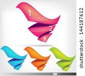 abstract paper speech bubbles | Shutterstock .eps vector #144187612