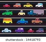 assorted vehicles running on... | Shutterstock . vector #14418793
