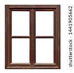 Vintage Brown Wooden Window On...