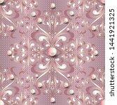 jewelry 3d baroque vector...   Shutterstock .eps vector #1441921325