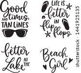 Summer Lettering Set. Black...