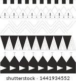 polynesian tattoo pattern lines ... | Shutterstock . vector #1441934552
