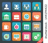 office and business flat icons... | Shutterstock .eps vector #144194422