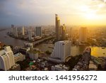 bangkok city skyline evening...   Shutterstock . vector #1441956272