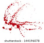 blood splatters isolated on... | Shutterstock . vector #144196078