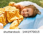 Happy little girl smiling...