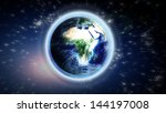 the earth from space showing... | Shutterstock . vector #144197008
